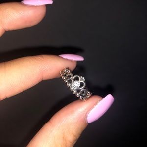 "Size 7 Pandora ""My Princess Stackable Ring"""